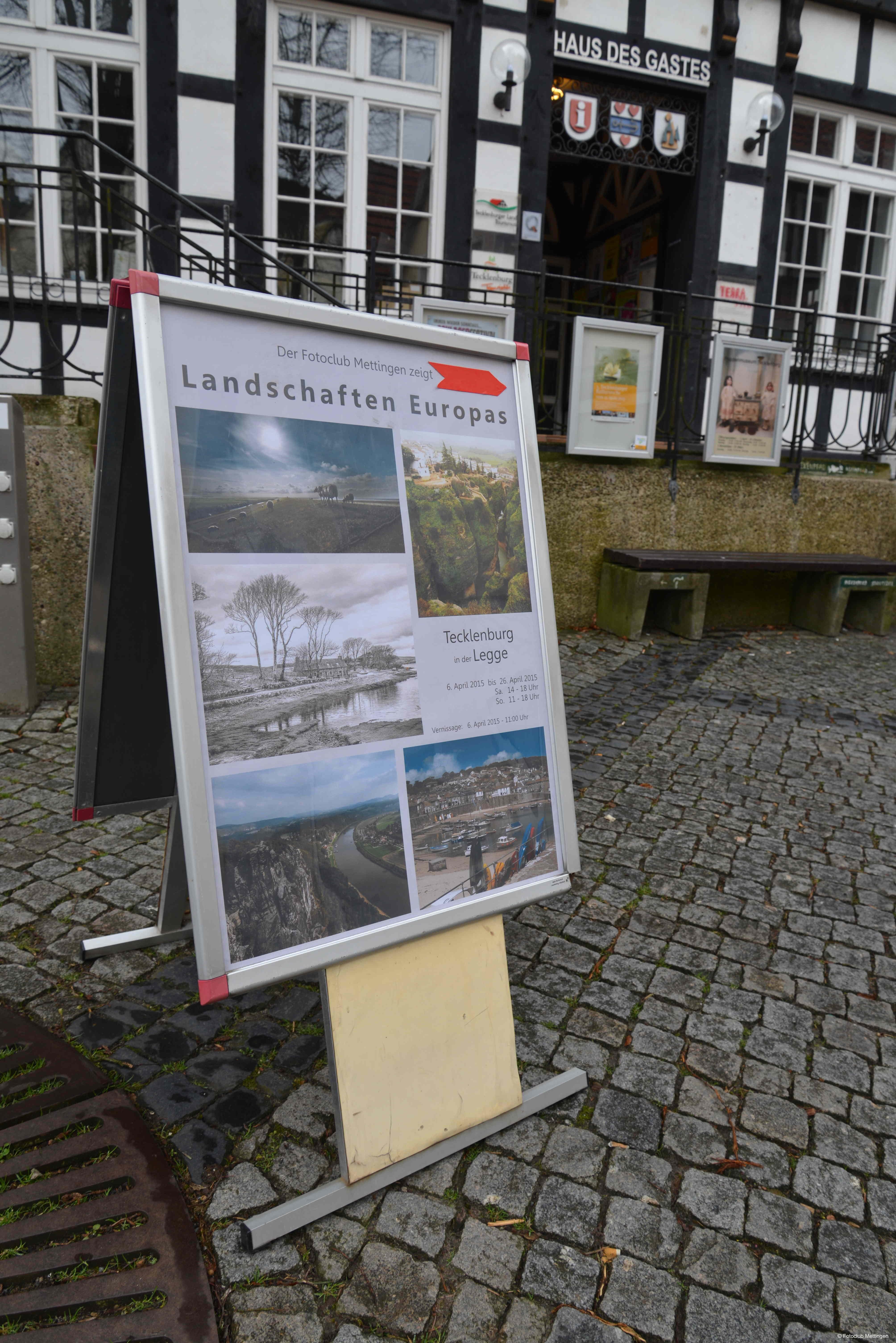 """Ausstellung """"Landschaften Europas"""" im Torhaus Legge in Tecklenburg"""