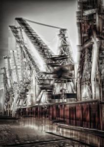 Alte Kräne Hamburg Hafen