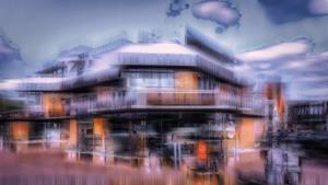 Eiscafe Gebäude Ibbenbüren abstrakt