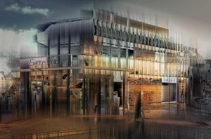 Eiscafe Ibbenbüren Gebäude modern abstrakt