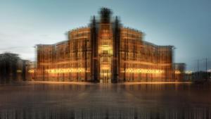 Gebäude historisch Dresdner Oper abstrakt