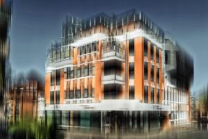 Gebäude modern Ibbenbüren abstrakt