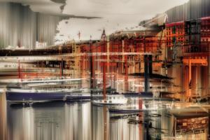 Hamburg Hafen Schiffe Gebäude