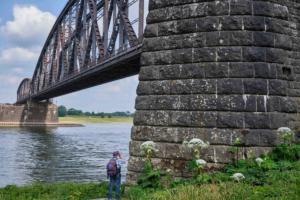 Haus-Knipp-Eisenbahnbrücke u. Rhein