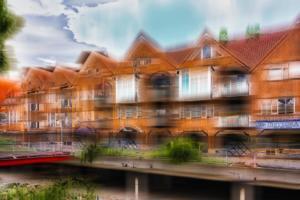Ibbenbüren Am Alten Posthof Gebäude Häuser abstrakt
