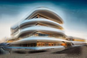 Modernes Geschäftsgebäude Haus abstrakt