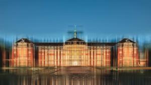 Münster Schloss historisch abstrakt