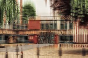 Münsterland Ibbenbüren Rathaus Gebäude abstrakt