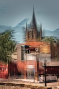 Stadt Ibbenbüren Christuskirche Häuser