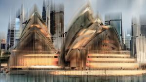 Sydney Oper Gebäude Australien abstrakt